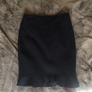 Structured navy skirt
